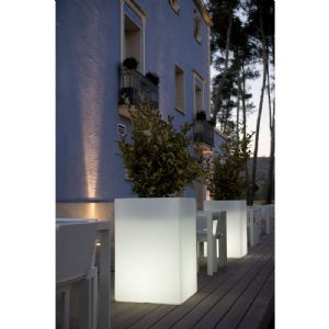 Contemporary illuminated tall planters with easy watering system online at potstore.co.uk